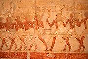 Painting at Hatshepsut Temple at Deir al-Bahri, Egypt