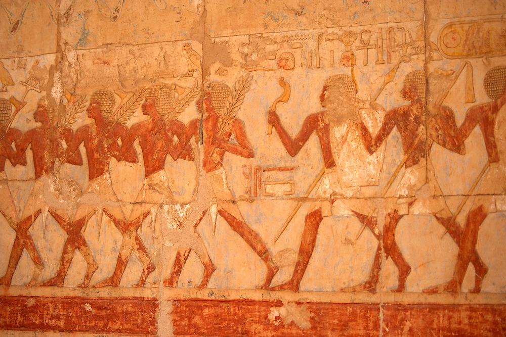 Painting at Hatshepsut Temple at Deir al-Bahri, Egypt