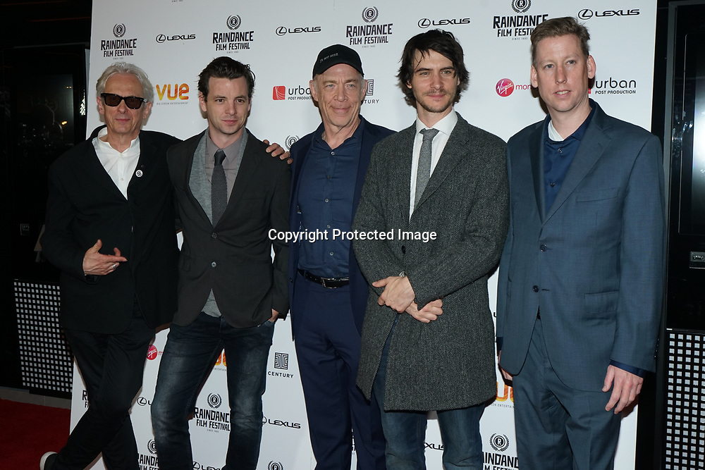 London, England, UK. 21th September 2017. Elliot Grove,Harry Llody,J. K. Simmons,Gethin Anthony, Randle Schumacher attend Raindance Film Premiere of 'I'm Not Here', starring J.K. Simmons