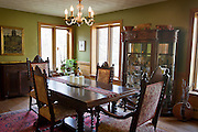 """BLUE MOUNDS—November 7, 2014: Dining room area of """"Little Norway""""."""