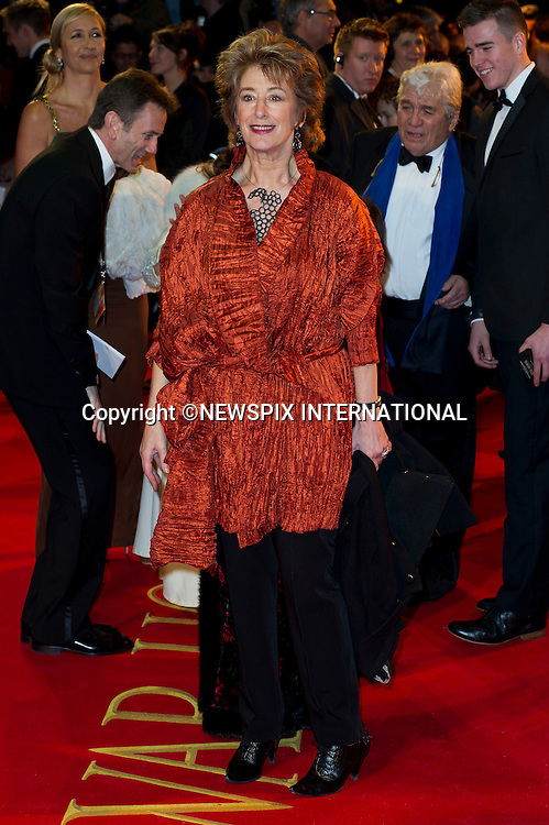 "WARHORSE ROYAL PREMIERE.Maureen Lipman..Catherine, The Duchess of Cambridge attends her first Royal Premiere for the UK Premiere of Warhorse.The Duchess was accompanied by the Duke of Cambridge, Prince William_08/01/2012..Mandatory Photo Credit: ©Dias/Newspix International..**ALL FEES PAYABLE TO: ""NEWSPIX INTERNATIONAL""**..PHOTO CREDIT MANDATORY!!: NEWSPIX INTERNATIONAL(Failure to credit will incur a surcharge of 100% of reproduction fees)..IMMEDIATE CONFIRMATION OF USAGE REQUIRED:.Newspix International, 31 Chinnery Hill, Bishop's Stortford, ENGLAND CM23 3PS.Tel:+441279 324672  ; Fax: +441279656877.Mobile:  0777568 1153.e-mail: info@newspixinternational.co.uk"
