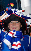 Young Rangers fan before the Homecoming Scottish FA Cup Final between Falkirk and Rangers at Hampden Park (picture by David Young - 07765 252616)