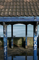 Abandoned shelter at DunLaoghaire in Dublin Ireland