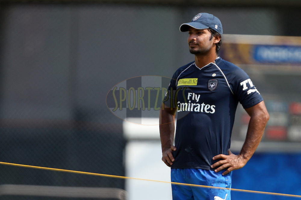 Kumar Sangakkara during the practice session of the Chennai Super Kings and Deccan Chargers held at the MA Chidambaram Stadium in Chennai, Tamil Nadu, India on 3 May 2012...Photo by Jacques Rossouw/BCCI/SPORTZPICS .