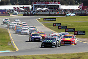 Cameron Waters & Richie Stanaway (Monster Ford) lead the start of the race on the way to winning the Wilson Security Sandown 500. 2017 Virgin Australia Supercars Championship Round 10. Sandown International Raceway, Melbourne 17 September 2017. Photo Clay Cross / photosport.nz