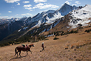 In October, it's time to ride the permit area, and find the cattle that have been grazing all summer long in the high pastures.<br /> <br /> You can only hope to ride on a such a beautiful autumn day.<br /> <br /> &quot;It's days like these that made me want to be a rancher,&quot; says Bill Fales.
