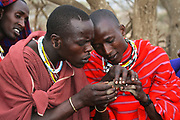 Maasai tribesmen Maasai is an ethnic group of semi-nomadic people. Photographed in Tanzania