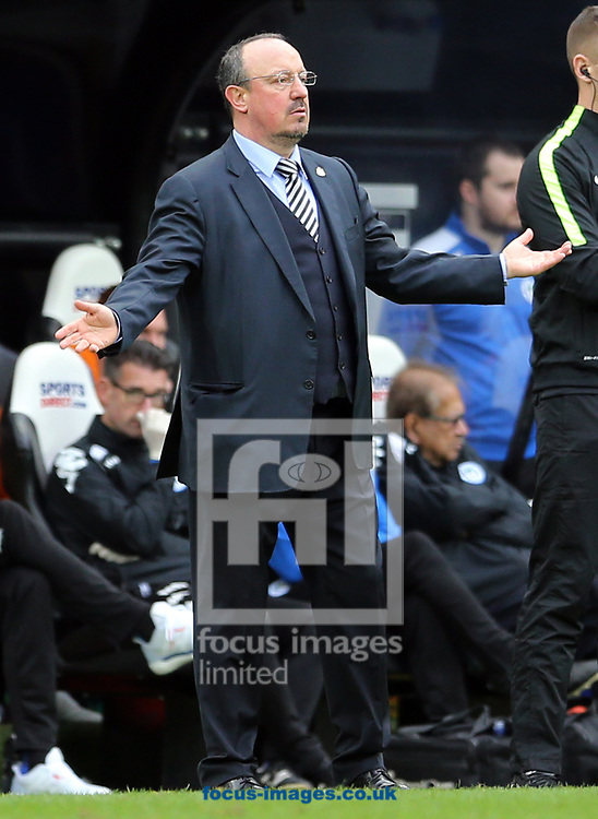 Newcastle United manager Rafa Benitez during the Sky Bet Championship match at St. James's Park, Newcastle<br /> Picture by Simon Moore/Focus Images Ltd 07807 671782<br /> 01/04/2017