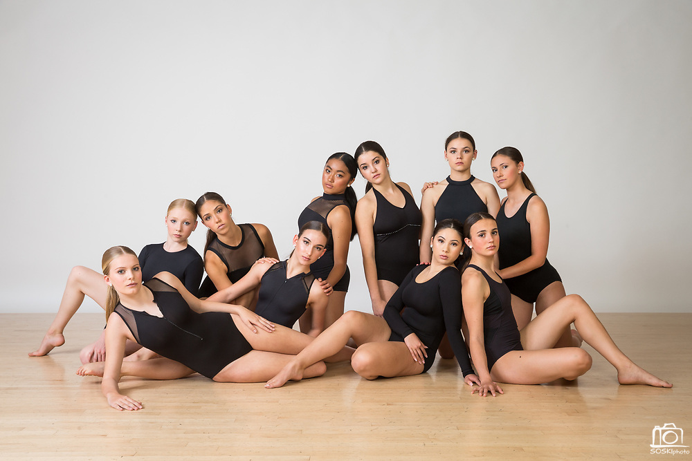 The Dance Company of Los Gatos competiton team poses for a portrait at The Dance Company of Los Gatos in Los Gatos, California, on April 17, 2017. (Stan Olszewski/SOSKIphoto)