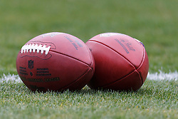 Dec 18, 2011; Oakland, CA, USA; Detailed view of a pair of footballs on the field before the game between the Oakland Raiders and the Detroit Lions at O.co Coliseum. Detroit defeated Oakland 28-27. Mandatory Credit: Jason O. Watson-US PRESSWIRE