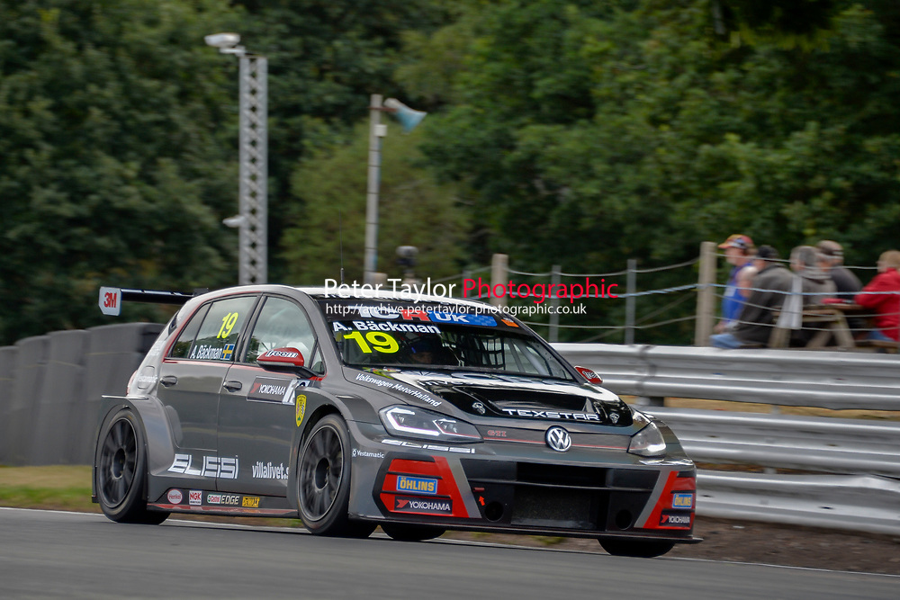 #19 Andreas BACKMAN (SWE) WestCoast Racing Volkswagen Golf GTI TCR  during TCR UK Championship  as part of the BRSCC TCR UK Race Day Oulton Park  at Oulton Park, Little Budworth, Cheshire, United Kingdom. August 04 2018. World Copyright Peter Taylor/PSP. Copy of publication required for printed pictures.  Every used picture is fee-liable. http://archive.petertaylor-photographic.co.uk