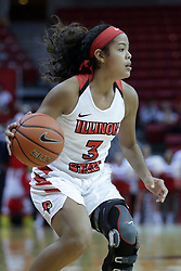 01 November 2017: Ajai Simmons during a Exhibition College Women's Basketball game between Illinois State University Redbirds the Red Devils of Eureka College at Redbird Arena in Normal Illinois.