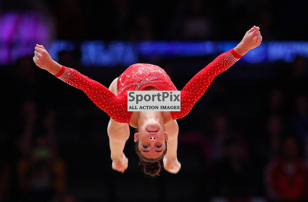 2015 Artistic Gymnastics World Championships being held in Glasgow from 23rd October to 1st November 2015...Alexandra Raisman (USA) competing in the Floor Exercise competition of the Women's Team Final...(c) STEPHEN LAWSON | SportPix.org.uk