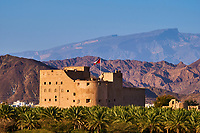 Sultanat d'Oman, région de Al-Dakhiliyah, montagnes du Hajar occidental, château de Jabrin //Sultanate of Oman, Ad-Dakhiliyah Region, Fort Jabrin was built in 1670, was once considered the capital of Oman