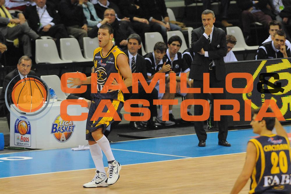 DESCRIZIONE : Torino Coppa Italia Final Eight 2011 Quarti di Finale Fabi Shoes Montegranaro Canadian Solar Virtus Bologna<br /> GIOCATORE : Dejan Ivanov <br /> SQUADRA : Fabi Shoes Montegranaro Canadian Solar Virtus Bologna<br /> EVENTO : Agos Ducato Basket Coppa Italia Final Eight 2011<br /> GARA : Fabi Shoes Montegranaro Canadian Solar Virtus Bologna<br /> DATA : 10/02/2011<br /> CATEGORIA : Esultanza<br /> SPORT : Pallacanestro<br /> AUTORE : Agenzia Ciamillo-Castoria/GiulioCiamillo<br /> Galleria : Final Eight Coppa Italia 2011<br /> Fotonotizia : Torino Coppa Italia Final Eight 2011 Quarti di Finale Fabi Shoes Montegranaro Canadian Solar Virtus Bologna <br /> Predefinita :