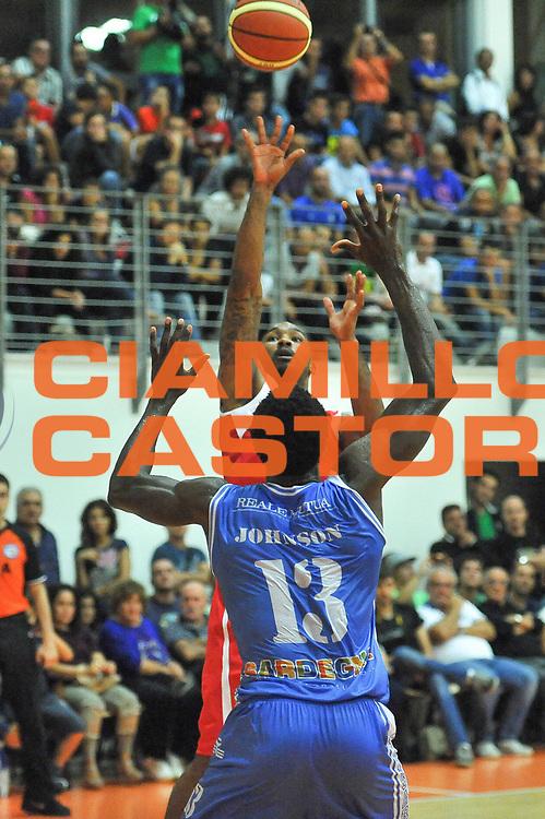 DESCRIZIONE : Trofeo Cantina Dorgali Banco di Sardegna Dinamo Sassari - Acea Virtus Roma<br /> GIOCATORE : Phil Goss<br /> CATEGORIA : Tiro<br /> SQUADRA : Acea Virtus Roma<br /> EVENTO : Trofeo Cantina Dorgali Banco di Sardegna Dinamo Sassari - Acea Virtus Roma<br /> GARA : Banco di Sardegna Dinamo Sassari - Acea Virtus Roma<br /> DATA : 10/09/2013<br /> SPORT : Pallacanestro <br /> AUTORE : Agenzia Ciamillo-Castoria / Luigi Canu<br /> Galleria : Precampionato 2013-2014<br /> Fotonotizia : Trofeo Cantina Dorgali Banco di Sardegna Dinamo Sassari - Acea Virtus Roma<br /> Predefinita :