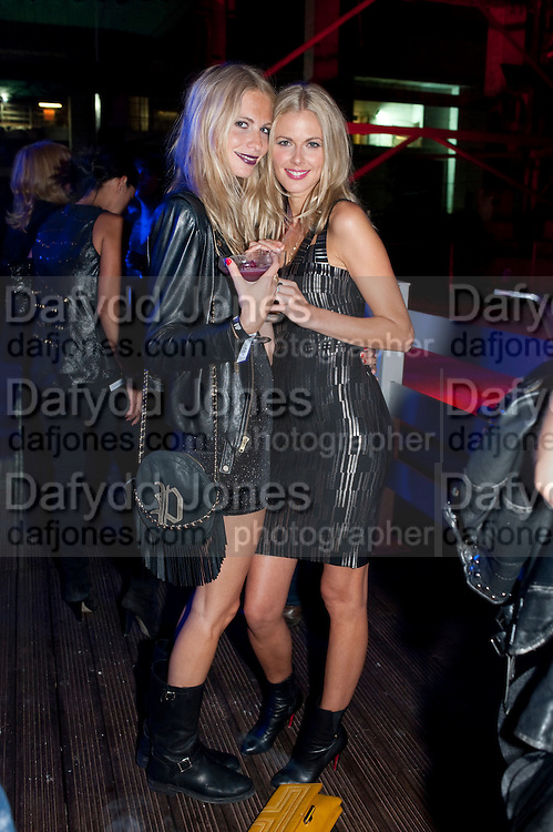 POPPY DELEVIGNE; DONNA AIR, Celebration of 10 years with Kate Moss as the face of the make-up brand Rimmel.  Battersea Power Station. London. 15 September 2011<br /> <br /> <br />  , -DO NOT ARCHIVE-&copy; Copyright Photograph by Dafydd Jones. 248 Clapham Rd. London SW9 0PZ. Tel 0207 820 0771. www.dafjones.com.