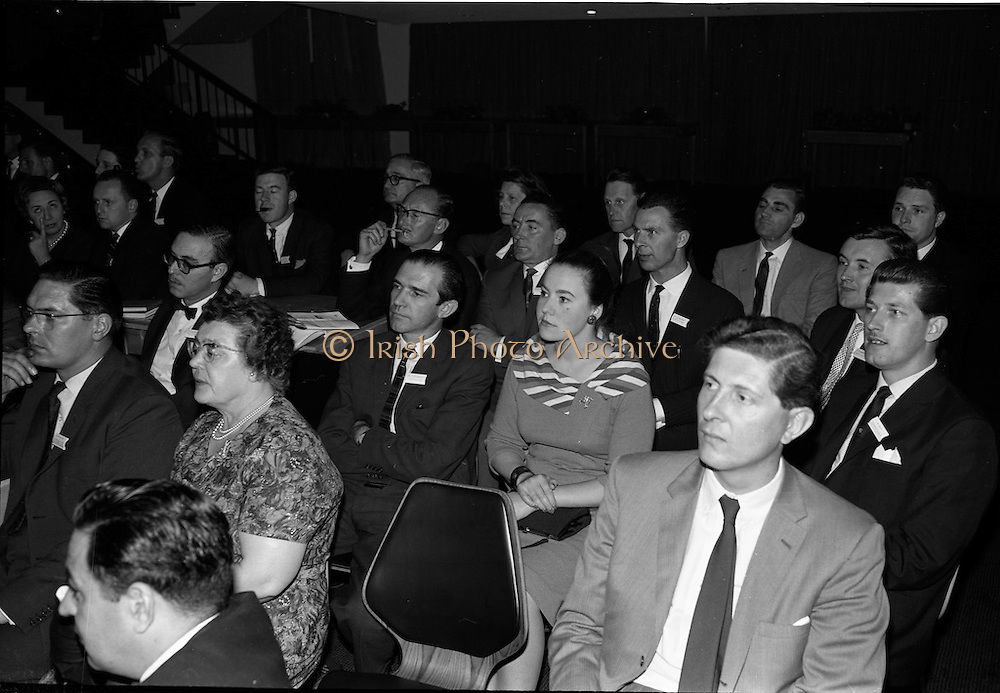 05/06/1964<br /> 06/05/1964<br /> 05 June 1964<br /> Clothing Institute Conference at Jury's Hotel, Dublin. Picture shows some of the attendees at the conference listening to a lecture.