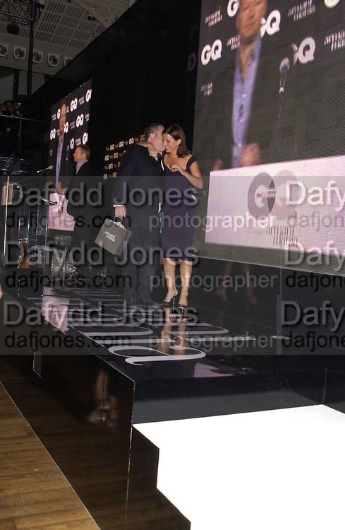 Chris Moyles and Davina McCall. GQ Men Of The Year Awards at the Royal Opera House, London. September 6, 2005 in London, England, ONE TIME USE ONLY - DO NOT ARCHIVE  © Copyright Photograph by Dafydd Jones 66 Stockwell Park Rd. London SW9 0DA Tel 020 7733 0108 www.dafjones.com