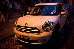 UK ENGLAND LONDON 18NOV11 - Street scene  with a parked Mini car in Fitzrovia, central London...jre/Photo by Jiri Rezac....© Jiri Rezac 2011