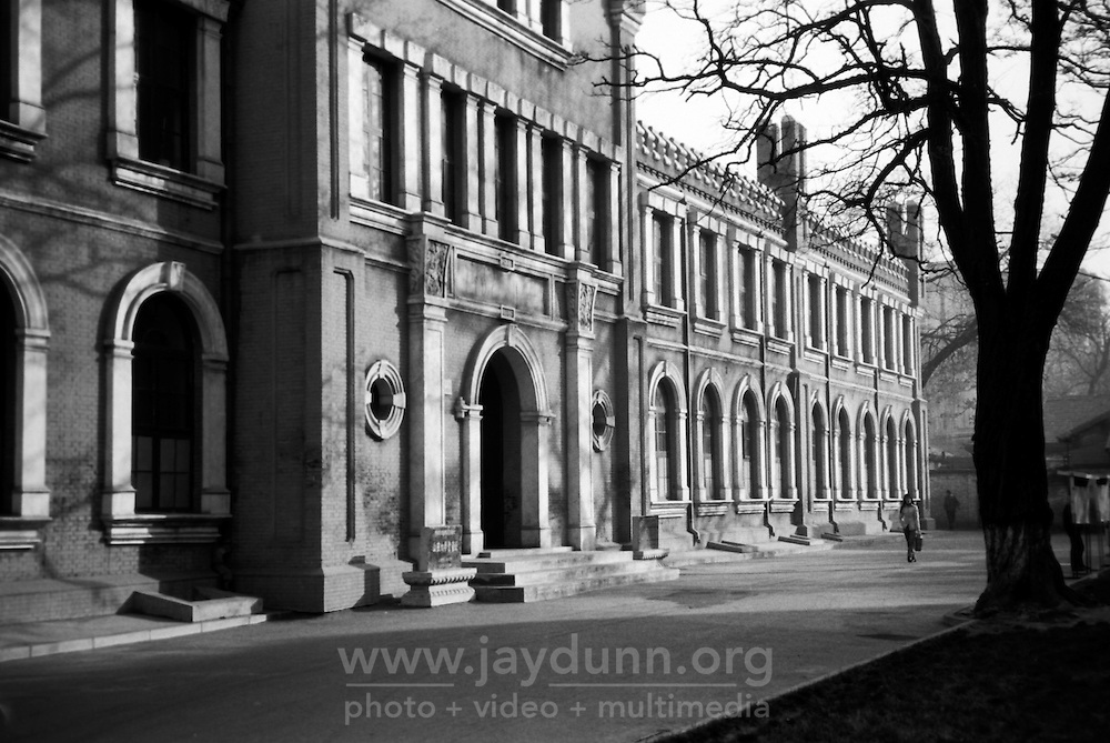 China, Taiyuan, 2008. The middle school attached to Taiyuan Teacher's College is housed in a beautiful 100 year old building formerly Taiyuan's first university. Classes are full to capacity, often with more than 50 students each.