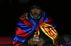 December 17, 2017 - Barcelona, Catalonia, Spain - FC Barcelona supporter during the La Liga match between FC Barcelona v Real Club Deportivo de La Coruna, in Barcelona, on December 17, 2017. (Credit Image: © Joan Valls/NurPhoto via ZUMA Press)
