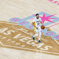 08 October 2017: Los Angeles Lakers guard Tyler Ennis (10) brings the ball up court during the LA Lakers 75-69 victory over the Sacramento Kings, at the T-Mobile Arena, Las Vegas, Nevada, USA.