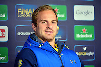 Nick ABENDANON - 01.05.2015 - Conference de presse Clermont avant la finale - European Rugby Champions Cup -Twickenham -Londres<br /> Photo : David Winter / Icon Sport