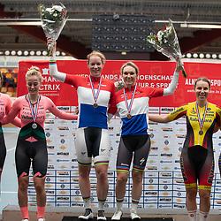 29-12-2019: Wielrennen: NK Baan: Alkmaar<br />Wereldkampioen koppelkoers Amy Pieters en Kirsten Wild pakken de titel. Zilver Marit Raaijmakers en Amber van der Hulst. Brons voor Mylene de Zoete en Bente van Teeseling