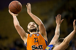 Daniel Vujasinovic of KK Sixt Primorska during basketball match between KK Sencur GGD and KK Sixt Primorska in Final of Slovenian Spar Cup 2017/18, on February 19, 2017 in Sports hall Tivoli, Ljubljana, Slovenia. Photo by Urban Urbanc / Sportida