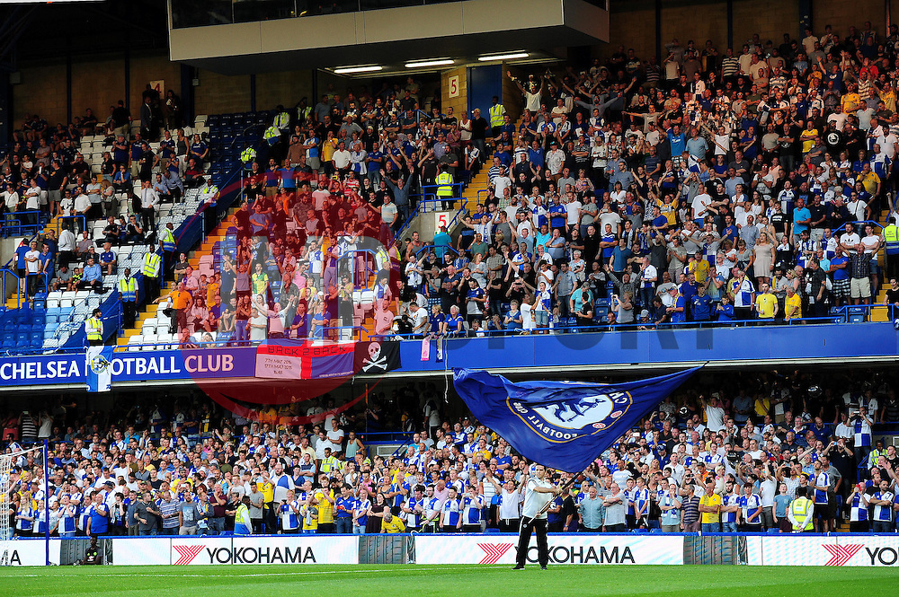 Bristol Rovers fans at Stamford Bridge - Mandatory by-line: Dougie Allward/JMP - 23/08/2016 - FOOTBALL - Stamford Bridge - London, England - Chelsea v Bristol Rovers - EFL Cup second round