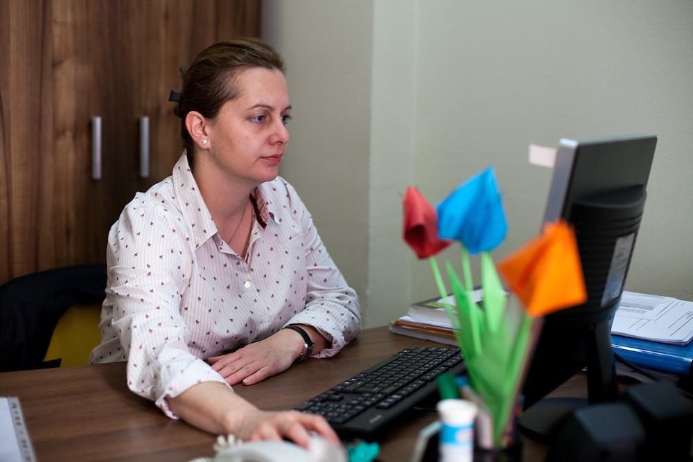 Portrait of Marija Gelevska, Deputy Executive Director Coordinator of the Program Womens Human Rights at the ESE office in Skopje, Macedonia.