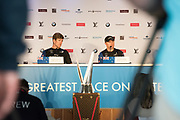 Americas's Cup Village, Bermuda 12th June 2017. Emirates Team New Zealand Helmsman Peter Burling at the press conference after winning the Louis Vuitton America's Cup Challenger series.
