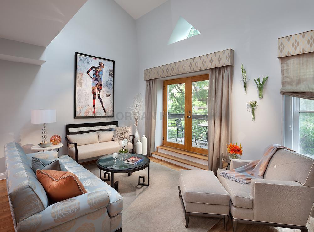 1126 25th St Nw Washington, DC designer Cynthia Prizant Home Living Room