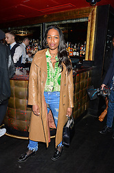 SHARMADEAN REID at a party to celebrate the UK launch of French fashion label ba&sh at The Arts Club, Dover Street, London on 15th March 2016.