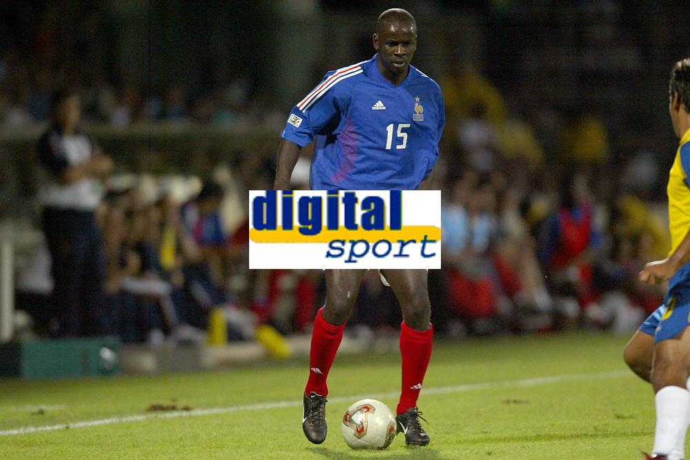 FOOTBALL - CONFEDERATIONS CUP 2003 - GROUP A - 030618 - FRANKRIKE v COLOMBIA - LILIAN THURAM (FRA) - PHOTO GUY JEFFROY / DIGITALSPORT