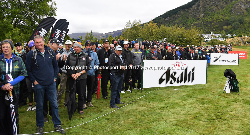 Galleries on the 13th fairway on day 4 at the 2017 ISPS Handa New Zealand Golf Open. Millbrook, Arrowtown. New Zealand. Sunday 12 March 2017. © Photo: Andrew Cornaga / www.photosport.nz