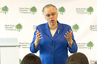 Toni Preckwinkle spoke Tuesday afternoon, May 23rd, 2017 about the state of Cook County during a presentation titled, &ldquo;State of the County Coffee with Toni Preckwinkle&rdquo;. The event was held in the Harper Court Conference Room located at 5235 S. Harper.<br /> <br /> Please 'Like' &quot;Spencer Bibbs Photography&quot; on Facebook.<br /> <br /> All rights to this photo are owned by Spencer Bibbs of Spencer Bibbs Photography and may only be used in any way shape or form, whole or in part with written permission by the owner of the photo, Spencer Bibbs.<br /> <br /> For all of your photography needs, please contact Spencer Bibbs at 773-895-4744. I can also be reached in the following ways:<br /> <br /> Website &ndash; www.spbdigitalconcepts.photoshelter.com<br /> <br /> Text - Text &ldquo;Spencer Bibbs&rdquo; to 72727<br /> <br /> Email &ndash; spencerbibbsphotography@yahoo.com