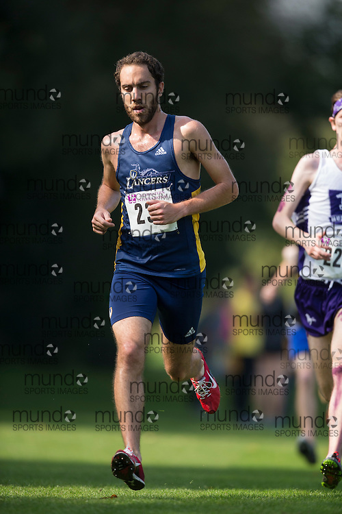 Paul Lamarra of the Windsor Lancers runs at the 2014 Western International Cross country meet in London Ontario, Saturday,  September 20, 2014.<br /> Mundo Sport Images/ Geoff Robins