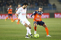 Marko BASA / Kevin BERIGAUD - 07.02.2015 - Montpellier / Lille - 24eme journee de Ligue 1<br /> Photo : Andre Delon / Icon Sport