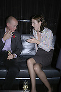 Annabel Watson and Harry Mount, Drinks party to launch a new Thomas Pink shirt called The Mogul which has a pocket which houses one's cigar. Hostyed by the Spectator and Thomas Pink. Floridita. Wardour St. London. 1 November 2006. -DO NOT ARCHIVE-© Copyright Photograph by Dafydd Jones 66 Stockwell Park Rd. London SW9 0DA Tel 020 7733 0108 www.dafjones.com
