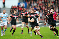 Stade Toulousain against Racing Metro in the Top 14 match at Stade Ernest Wallon, Toulouse, 1st November 2012. Credit - Eoin Mundow/Cleva Media