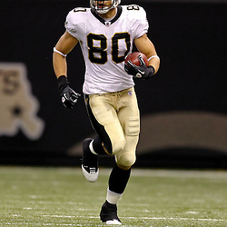 Oct 24, 2010; New Orleans, LA, USA; New Orleans Saints tight end Jimmy Graham (80) runs with the ball during the first half against the Cleveland Browns at the Louisiana Superdome. Mandatory Credit: Derick E. Hingle