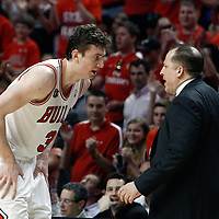 10 May 2011: Chicago Bulls center Omer Asik (3) listens to Chicago Bulls head coach Tom Thibodeau during the Chicago Bulls 95-83 victory over the Atlanta Hawks, during game 5 of the Eastern Conference semi finals at the United Center, Chicago, Illinois, USA.