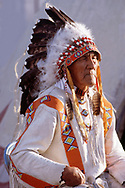Blackfeet Holy Man, The late George Kicking woman in 1987,Blackfeet Indian reservation, Browning,Montana,USA