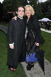 AMANDA ELIASCH and her son CHARLIE ELIASCH at the annual Serpentine Gallery Summer Party sponsored by Burberry held at the Serpentine Gallery, Kensington Gardens, London on 28th June 2011.