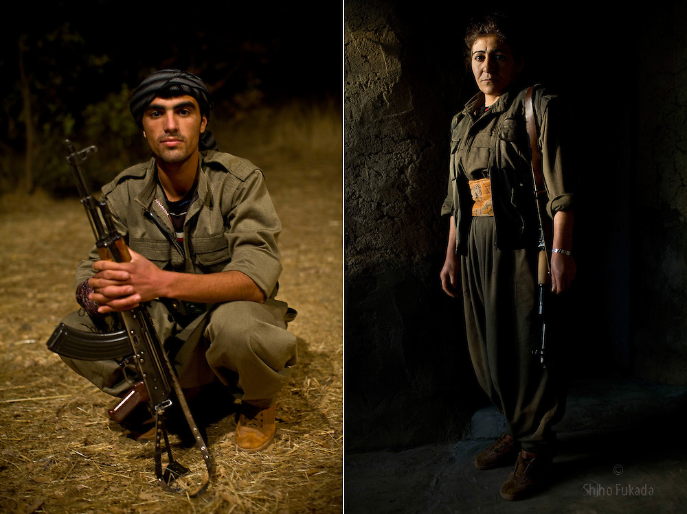 LEFT: PKK guerilla fighter Diler Hewram, 24. He joined PKK in 2007.<br />