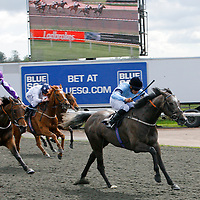 Boudoir and Sean Levey winning the 3.30 race