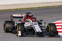 February 19, 2019 - Barcelona, Barcelona, Spain - Antonio Giovinazzi from Italy with 99 Alfa Romeo Racing in action during the Formula 1 2019 Pre-Season Tests at Circuit de Barcelona - Catalunya in Montmelo, Spain on February 19. (Credit Image: © Xavier Bonilla/NurPhoto via ZUMA Press)