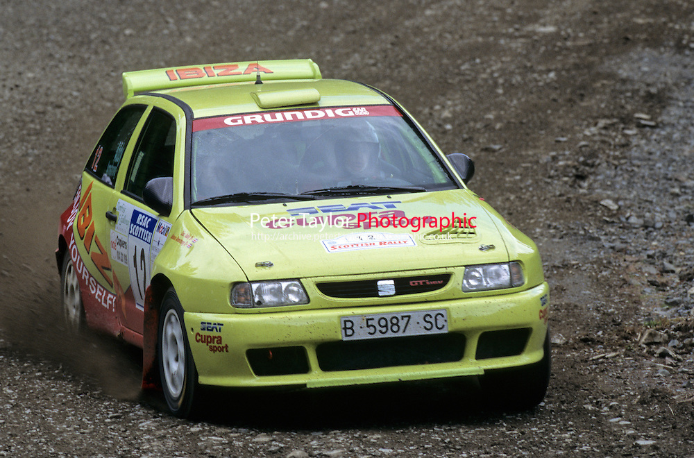 Mobil 1/RAC British Rally Championship 1997. RSAC Scottish Rally. Barbara Armstrong / Lisa Addy. SEAT CUPRA SPORT. SEAT Ibiza. World Copyright: Peter Taylor/PSP. Copy of publication required for printed pictures. Every used picture is fee-liable..